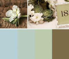 succulent desert color scheme by KenzieKate, via Flickr