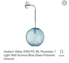 Wall Sconce Lighting, Wall Sconces, Majestic Palm, Wall Lights, Chrome, Glass, Blue, Home Decor, Appliques