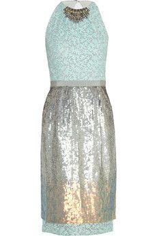 Matthew Williamson Sequined organza dress | NET-A-PORTER