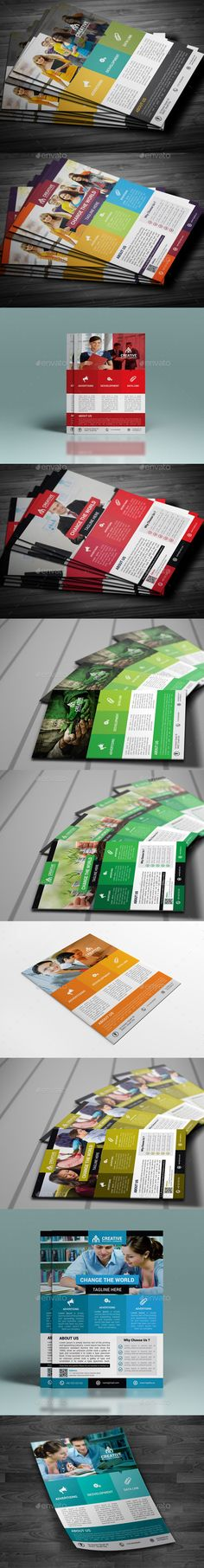 Corporate Flyer Bundle - Corporate Flyer Template Vector EPS, Vector AI. Download here: http://graphicriver.net/item/corporate-flyer-bundle/10758859?s_rank=1796&ref=yinkira