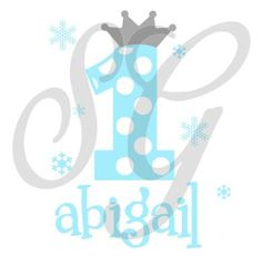 Personalized Winter Princess Birthday decal iron on for shirt - pinned by pin4etsy.com