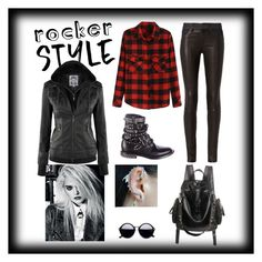 """""""Rock on"""" by red-lips-and-pearls ❤ liked on Polyvore featuring rag & bone, Yves Saint Laurent, rockerchic and rockerstyle"""