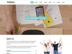 Total, Free WordPress Theme by Hash Themes - Templified Types Of Websites, Blog Websites, Best Free Wordpress Themes, Themes Free, One Page Website, Create Website, Free Magazines, Text Animation, Marketing Technology