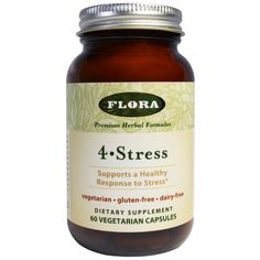 Flora, 4-Stress, 60 Veggie Caps  #stress #formula #support #balance #management #iherb #thingstobuy #shopping #relief
