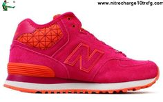 Buy New New Balance NB WH574WSR middle-cut leather For Women boots Purple Pink Red Casual shoes Store