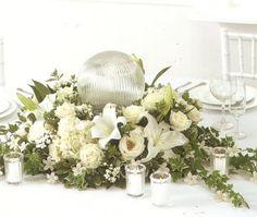 Wedding Flower Arrangement.  Large beautiful wedding reception decorations that will take your breath away!