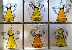 Angels - Yellow Stained Glass https://www.facebook.com/groups/TayamaCrafts/