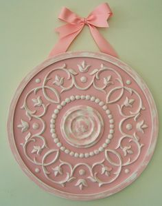 ceiling medallion as wall hanging