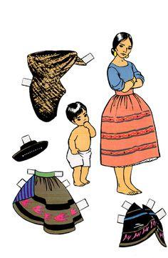 Indians of Peru Paper Dolls