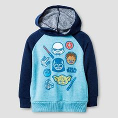Star Wars Toddler Boys' Pullover Hoodie - Light Heather Blue