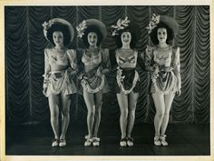 Revudeville no.184: Windmill Girls, Moy Wong, Pat Raphael, Winifred Hodge and Jackie Jennings at the Windmill Theatre during WW2.