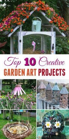 The top 10 creative garden art projects of the year with how-to tutorials. Time to get creative!
