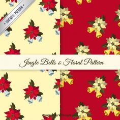 Free vector Jingles bells and floral patterns #33503