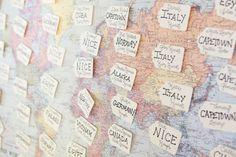 brides of adelaide magazine travel wedding seating cards map Wedding Themes, Our Wedding, Wedding Ideas, Wedding Inspiration, Themed Weddings, Wedding Decor, Event Planning, Wedding Planning, Map Globe