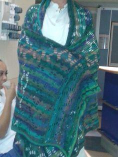 Grote sjaal voor collega