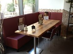 Gastronomie Tischplatten Conference Room, Restaurant, Table, Furniture, Home Decor, Fine Dining, Industrial Design, Cottage Chic, Rustic