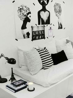Love the black and white!