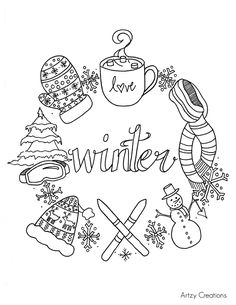 Image result for free winter colouring pictures for kids