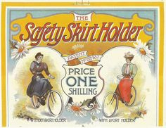Bicycle Cycling Safety Skirt Holder 1898 advertisement advert