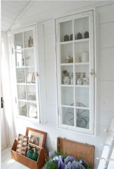 Glass Shelves At Home Depot Creative Kids Rooms, Beautiful Interior Design, Old Windows, Glass Shelves, Glass Cabinets, Cupboards, Tiny Spaces, Old Doors, Diy Door