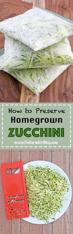 It's that time of the year when you harvest this freshly crisp zucchini from the garden and stock up for the winter months. One of the ways you can preserve your wonderful little blessings to enjoy all year round is to grate and freeze this type of veggie. #howtofreezezuccuini #freezingzucchinies #thefarmgirlblog | thefarmgirlblog.com Great Recipes, Favorite Recipes, Delicious Recipes, Holiday Recipes, Freezing Fruit, Little Blessings, Homemade Spice Blends, Frugal Meals, Girl Blog