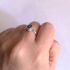 New amethyst ring.