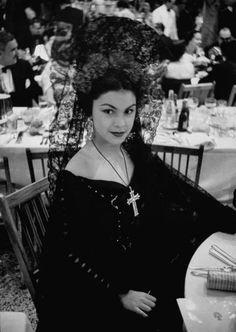 Debutante Maria Dolores Carrillo at Baile de Carnaval.  Havana, 1954  Via: Life