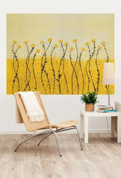 """Fields of Gold"" Mural That Sticks by GreenBox artist, Jean-Francois Debongnie 72x54 $189 