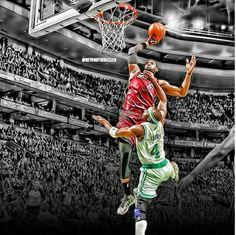 Lebrons nasty dunk