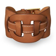 Leather Jewelry Hermès Brown ($640) ❤ liked on Polyvore