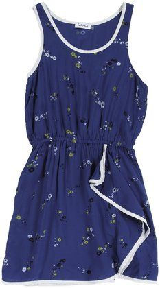 Splendid Floral Print Tank Dress (Toddler/Kid)-Chamray