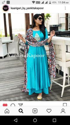 Indian Designer Wear, Salwar Suits, Kurtis, Anarkali, Color Combinations, Fashion Ideas, Gowns, Colour, Clothes For Women