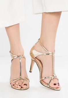 Paradox London Pink PEYTON - Sandales à talons hauts - gold - ZALANDO.FR - 100€