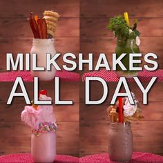 Have you ever dreamed of eating a milkshake for every meal of the day? Achieve that dream with these four decadent shakes!