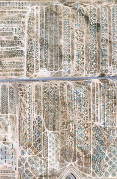 Google Earth image of an airplane graveyard.