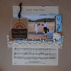 Love the use of sheet music in this layout.