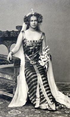 Crown Princess Marie of Romania, 1896.