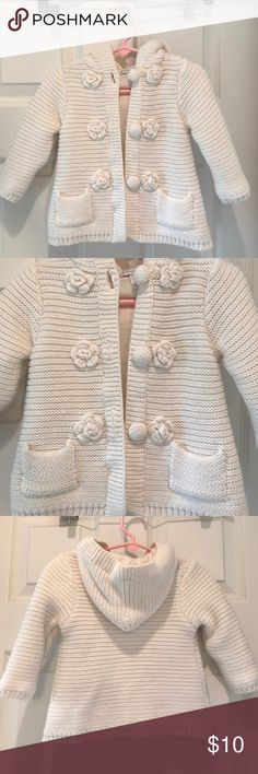 Cute warm thick sweater jacket💖18mos(25-27lbs) Cute warm thick sweater jacket💖18mos(25-27lbs).  100% Cotton. Gently worn. First Impressions Jackets & Coats