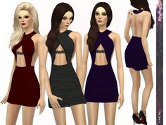 The Sims Resource: Elegant Glance Dress by Simsimay • Sims 4 Downloads