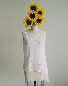 Ina Asymmetrical Lace Top