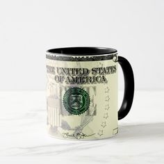 5 American dollar banknote with a face mask agains Mug | Zazzle.com #ThermalTumbler #dollar #American