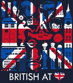 British at ♥ by Tom Trager.   This is so linsey!!!!! Maybe I need a tat like that....hmm ...something to think about.