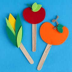 Garden Markers - Kids can make garden steaks from craft foam and Popsicle sticks to give green thumbed dads.