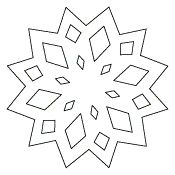 snowflake template | holiday embroidery, ornaments, ideas, etc ...