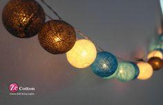 Blaue Töne 35 gemischt 4 Farben Baumwolle Ball String von zecotton, $16.50