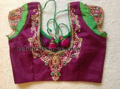 Stone Work Blouse with Tassels