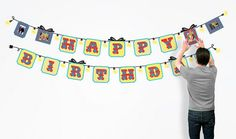 Peel'n'Stick Reusable Birthday Banner from BUTCH & harold, a NY Times Feature