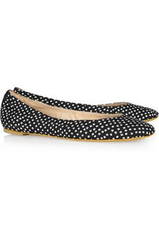Abby printed canvas ballet flats