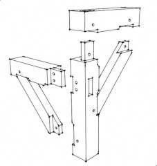 mortise and tenon post and beam corner - Yahoo Image Search Results Woodworking Basics, Woodworking Joints, Woodworking Workshop, Woodworking Furniture, Fine Woodworking, Woodworking Organization, Woodworking Garage, Intarsia Woodworking, Woodworking Classes
