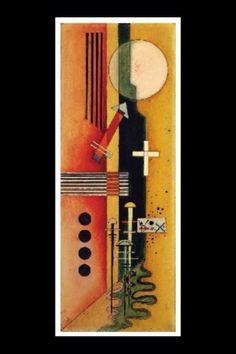 """Wassily Kandinsky - """"Toward pink"""", 1926 - Oil on board - 71 x 27 cm (*)"""